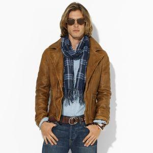 ralph lauren leather jackets for men celebrities