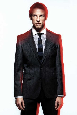 suits for men in their thirties jenson button boss black