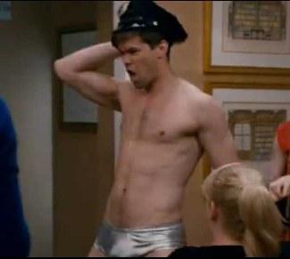 Andrew Rannells underwear - silver briefs