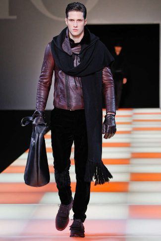 mens winter leather jackets armani