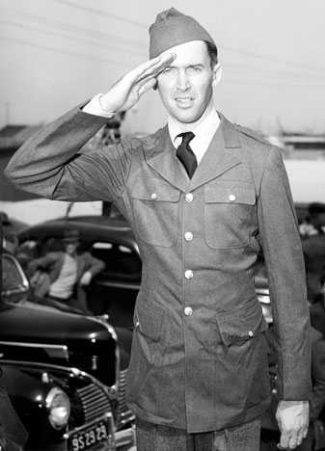 celebrities in the military jimmy stewart uniform