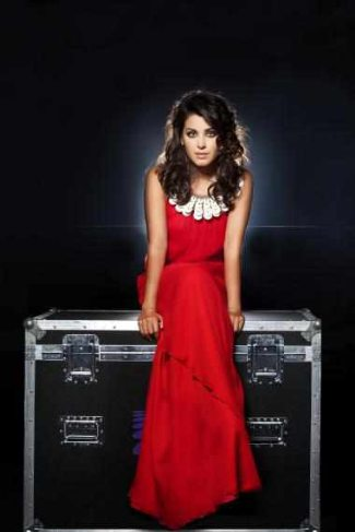 katie melua red dress