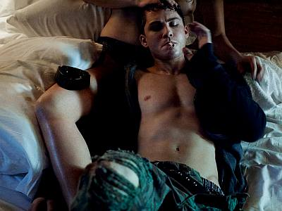logan lerman shirtless