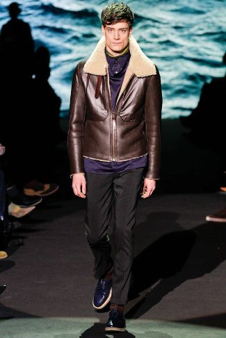 mens winter leather jackets paul smith