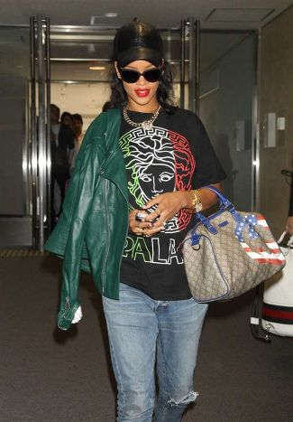 Alexander McQueen Leather Jacket Worn By Rihanna