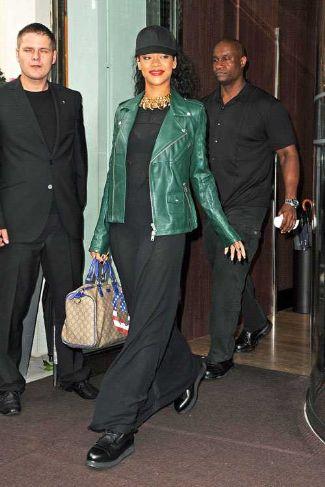 Alexander McQueen Leather Jacket Rihanna