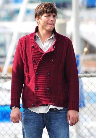 winter cardigan for men by topman - ashton kutcher