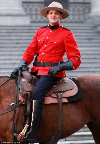 michael buble hot rcmp uniform