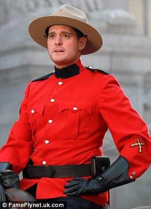 michael buble hot in rcmp uniform