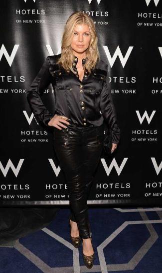 fergie leather pants by balmain