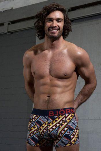 aidan turner lookalike joe wicks underwear model - bjorn borg