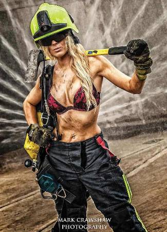 real female firefighters calendar - Jade Styan - miss may