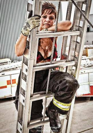 british female firefighters calendar - Nicole Hallat