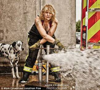 british female firefighters calendar - sally stark