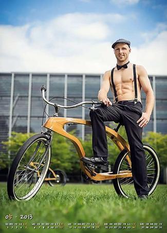 german shirtless male students calendar - dresden university
