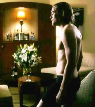 Charlie Hunnam - black boxers - the ledge movie