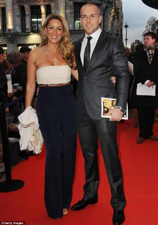 Claire Sweeney and Daniel Riley - engaged - red carpet photos