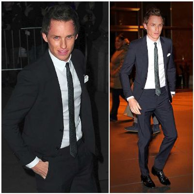 Eddie Redmayne suits fashion style - burberry suit