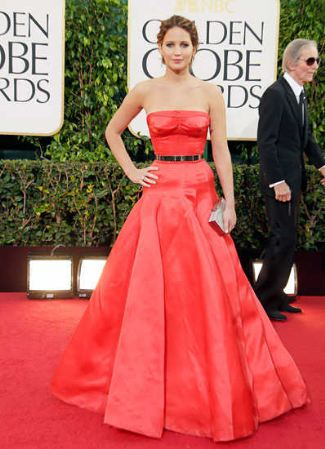 best red dresses jennifer lawrence dior couture dress