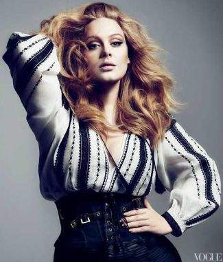 adele wearing Tom Ford Spring 2012 RTW Blouse