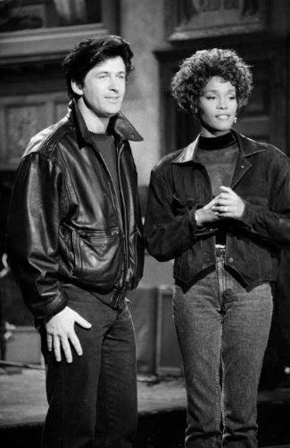 alec baldwin leather jacket - 1991 snl with whitney houston