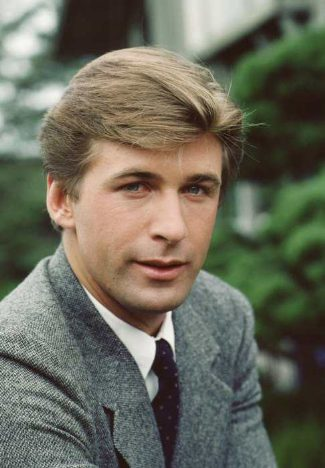 alec baldwin young 26 years old - suit