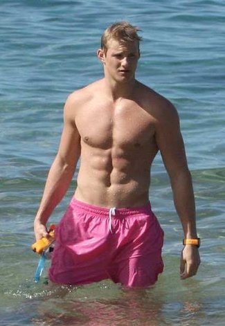 alexander ludwig gay or straight - pink shorts