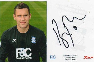 ben foster autograph - football player