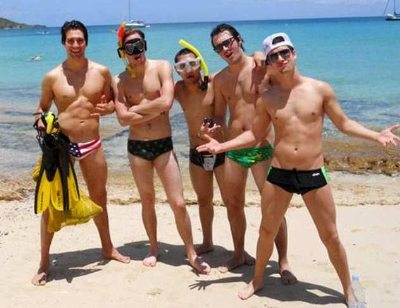 big time rush speedo swimtrunks - James Maslow Kendall Schmidt Carlos Pena Mystery Guest Logan Henderson