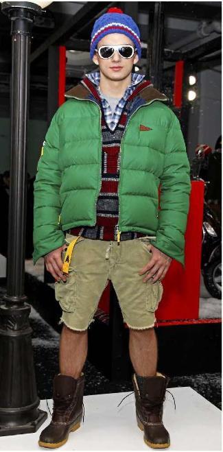 bradley cooper jacket 2013 - green puffa jacket - seen on male model