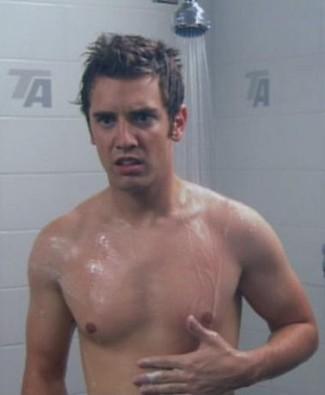 bret harrison shirtless in shower