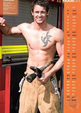 british firefighters calendar - jamie davis