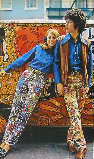 celebrity mens psychedelic pants - tony sales - 1960s