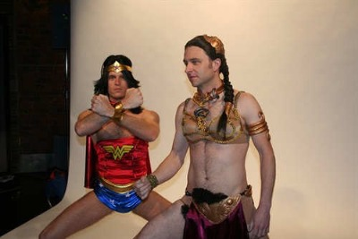 chris hardwick and kevin pereira in womens underwear