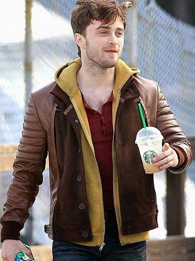 daniel radcliffe ig perrish leather jacket