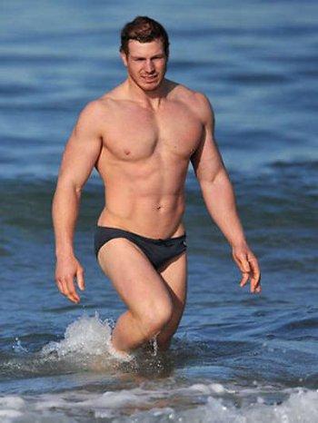 australian rugby players in speedo - david pocock