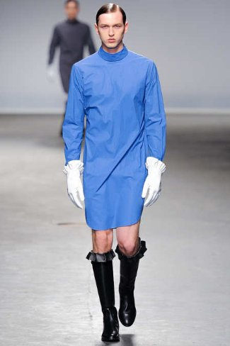 womens clothes for men to wear - blue dress