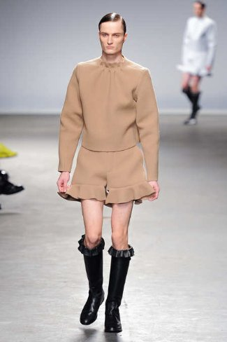 womens clothes for men - jw anderson - brown dress