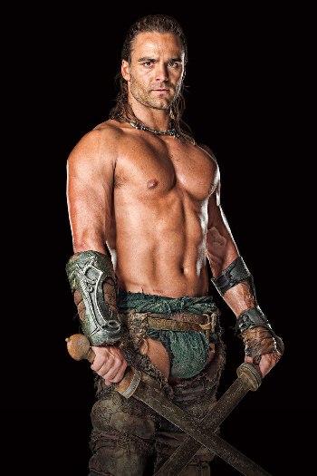 dustin clare underwear - loincloth - spartacus gods of the arena