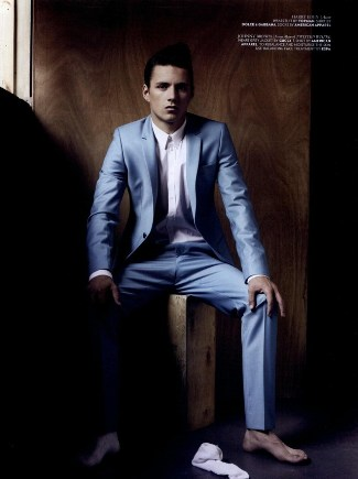 harry eden suit - wonderland magazine editorial - photo by Mariano Vivanco