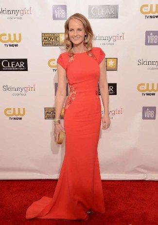 best red dresses helen hunt at critics choice