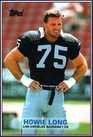 howie long football uniform - young