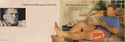 howie long hanes underwear ad