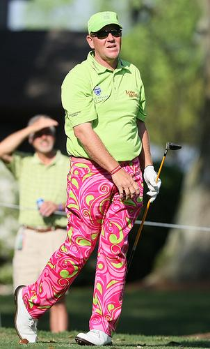 Celebrities Wearing Psychedelic Pants john daly loud mouth pants