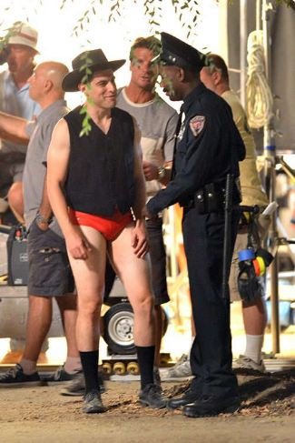 max greenfield - red speedo