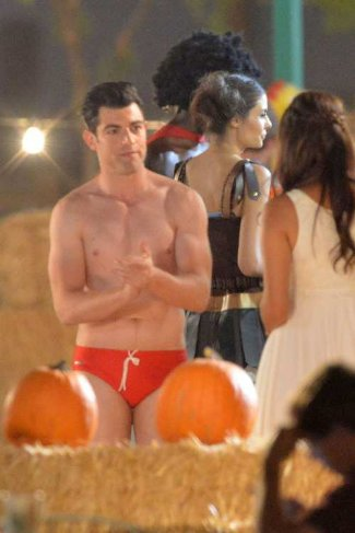 max greenfield shirtless in speedo