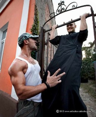 hot priests calendar orthodox priests working out