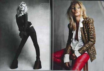 red leather pants for girls - kate moss - Balmain Stretch Leather Biker Trousers
