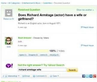 is richard armitage gay question