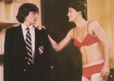 rob lowe in womens underwear - bra and panties